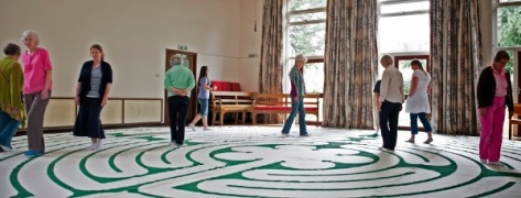 The Chartres-style labyrinth at Saffron Walden Maze Festival 2013