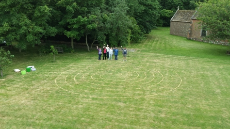 labyrinth people waving June 25th 2015