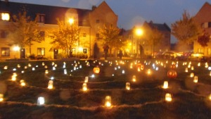 Candlelit Pumpkin Labyrinth, Orchard Park Cambridge