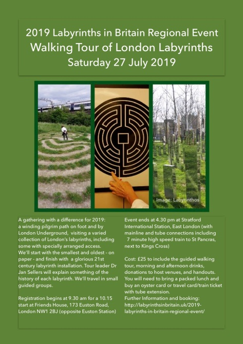 2019 Labyrinths in Britain Walking Tour S